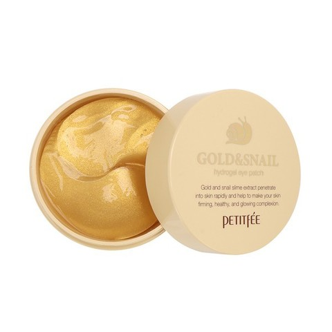 Гидрогелевые патчи Petitfee Gold & Snail Hydrogel Eye Patch