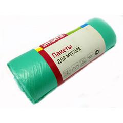 Мешки для мусора ПНД 120л 70x110см 25мкм зеленые 20шт/рул Attache
