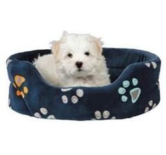 Trixie Лежак с бортиками Jimmy для собак маленьких пород, синий 55х45 см
