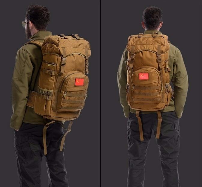 Рюкзак спортивный D040 черный 50 л.