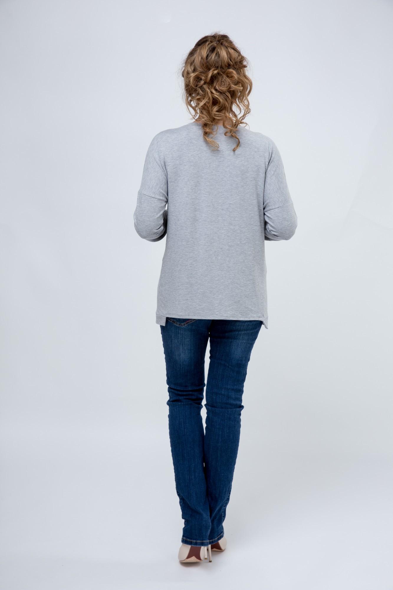 Блузка 09136 серый