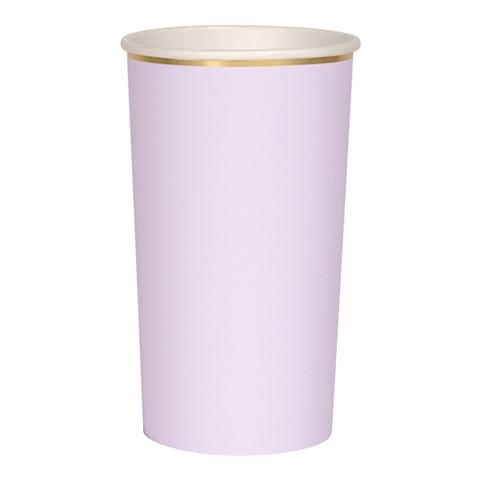 Стаканы высокие для коктейлей, фиолетовые