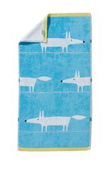 Полотенце 30х50 Blanc des Vosges Mr Fox Bleu