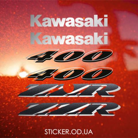 Набор виниловых наклеек на мотоцикл Kawasaki ZZR 400