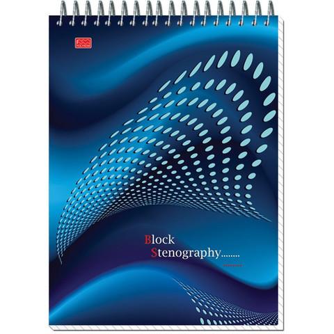 Блокнот на спир.А5 60л.STENOGRAPHY 6с10 клетк 40 в асс.