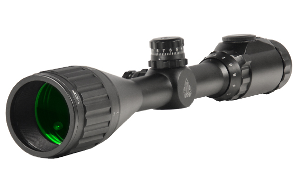 ПРИЦЕЛ LEAPERS TRUE HUNTER IE 3-9X50, 25.4 ММ, AO-ПАРАЛЛАКС ОТ 4.6М, НИТЬ MILDOT, ПОДСВ. IE36, КОЛЬЦА, 705ГР