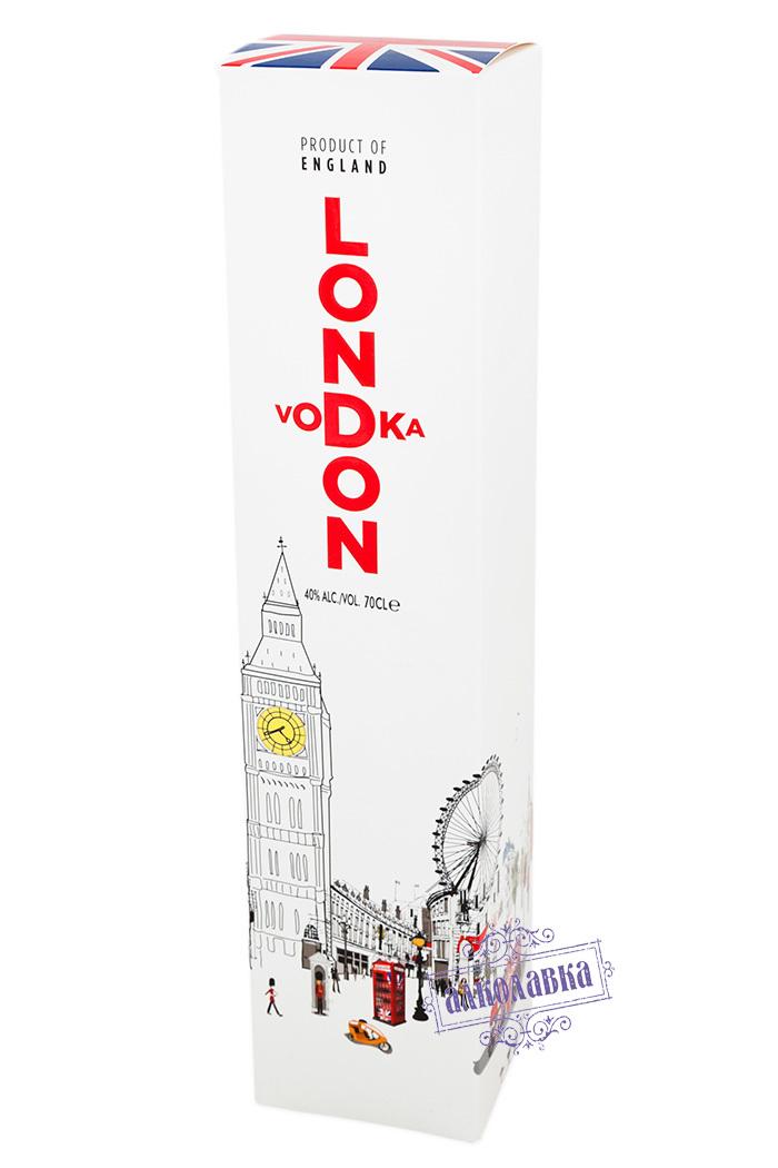 LONDON VODKA.ЛОНДОН ВОДКА В ПОДАРОЧНОЙ УПАКОВКЕ. 0,7 Л