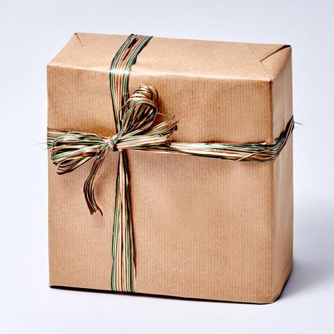 "Новогодняя упаковка подарка ""КРАФТ"""
