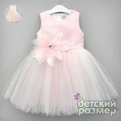 Платье (брошь, пышная сетка)