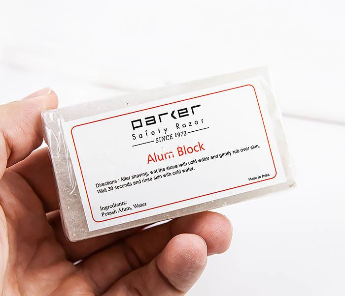 RAZ471 Квасцовый камень PARKER от порезов после бритья (Alum block, 125 гр) фото 06