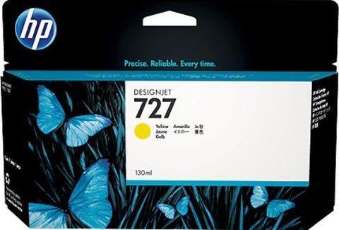Картридж HP B3P21A №727 с желтыми чернилами для HP DesignJet T920/T1500, 130 мл