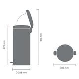 Мусорный бак newicon (30 л), Стальной матовый, арт. 114380 - превью 7