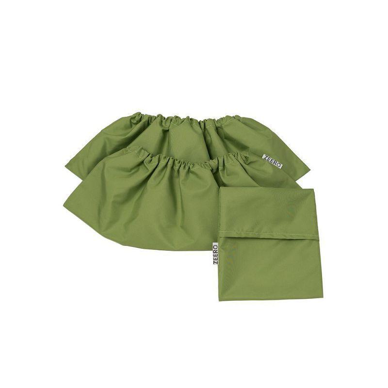 Многоразовые детские бахилы ZEERO Dewspo с мешочком, зеленые