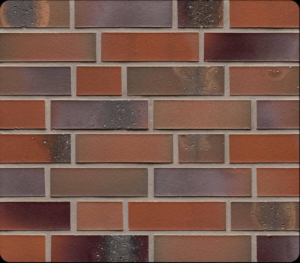 Облицовочная клинкерная плитка Feldhaus Klinker, Salina, R580NF14, carmesi colori, поверхность расплавленный обжиг