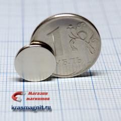 Неодимовый магнит диск 12х1.5 мм