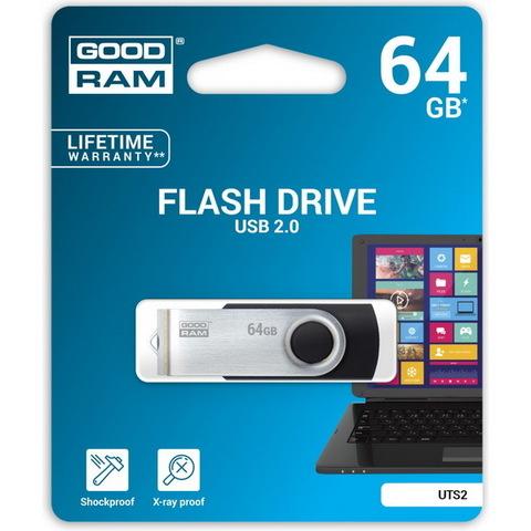 Накопитель GoodRAM Twister UTS2 64GB USB 2.0 Black (UTS2-0640K0R11)