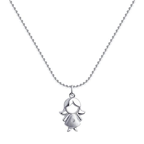 87070015 - Колье из серебра с бриллиантом