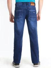 M51-C1187L джинсы мужские утепленные, синие