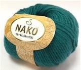Пряжа Nako Merino Blend DK 10327 изумруд