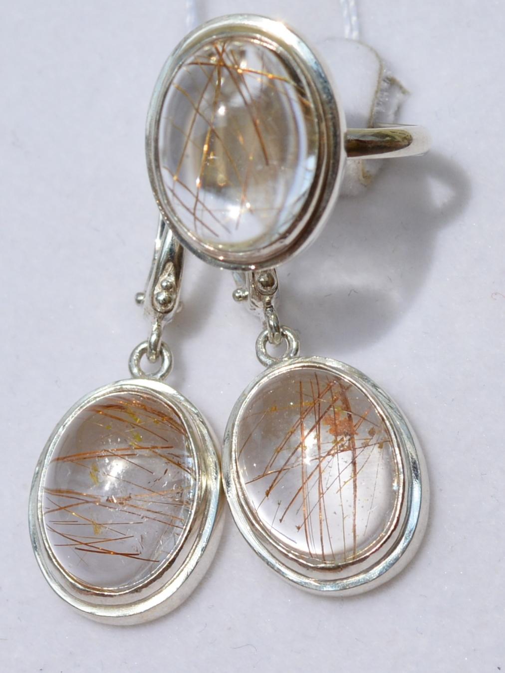 Берна (кольцо + серьги из серебра)