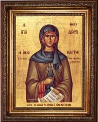 Феодора Константинопольская (Цареградская) преподобная. Икона на холсте.