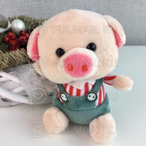 Поросёнок брелок Мистер Хрю символ 2019 года свинья (красный-серый)