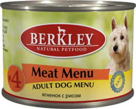 Консервы Berkley №4 Ягнёнок с рисом для собак