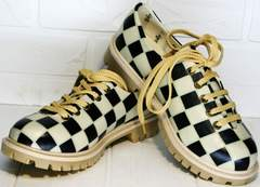Женские туфли с шахматным принтом Goby TMK6506