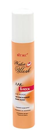 Лак – блеск для волос с протеинами шёлка ультрасильной фиксации