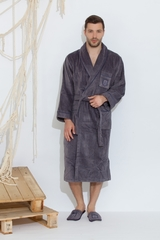 BOSWELL-БОСВЭЛЛ велюровый мужской  халат с тапочками  Maison Dor Турция