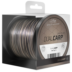 Леска моно FIN DUAL CARP / 0,28mm / 13,1lb / 1200m - Brown/Black