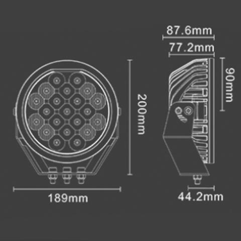 Светодиодная фара  комбинированного  света Аврора  ALO-R-5-C10B ALO-R-5-C10B  фото-4
