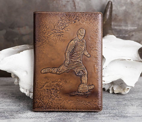 Ежедневник с изображением футболиста (А5)