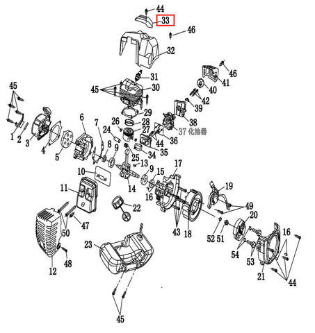 Верхняя крышка  для лодочного мотора T2 SEA-PRO