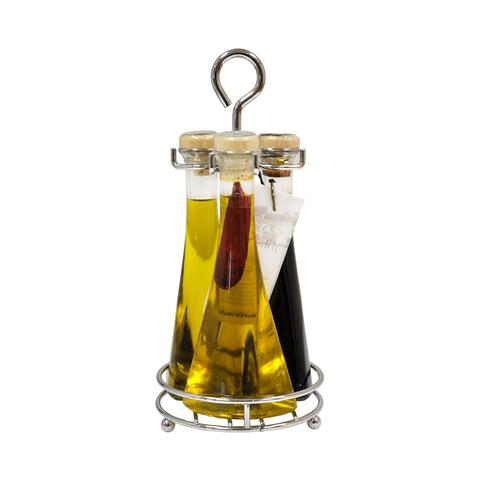Набор Casa Rinaldi Трио (масло оливковое Extra Virgin, масло оливковое с острым перцем, уксус бальзамический) 300мл