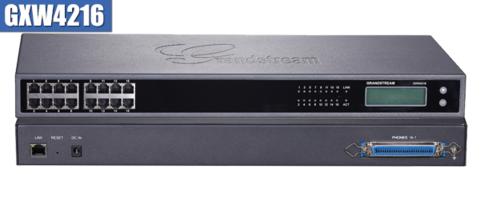 Grandstream GXW4216 - IP шлюз. 16xFXS, 1xLAN, (1GbE)Gigabit Ethernet