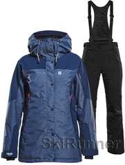 Горнолыжный костюм Sienna Poppy Navy-Black 18 женский