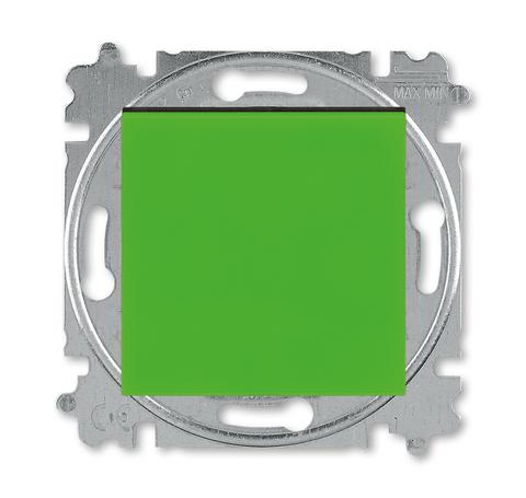 Выключатель одноклавишный. Цвет Зелёный / дымчатый чёрный. ABB. Levit(Левит). 2CHH590145A6067