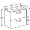 Мебель для ванной Roca The Gap 70x41см. виноград ZRU9302741/327471000 схема