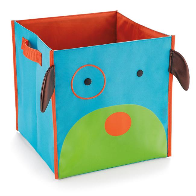 забавный детский короб для игрушек голубой