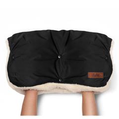 Markus. Меховая муфта для коляски Basic, Total Black