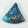 Кабошон Яшма Императорская (прессов., тониров), цвет - голубой, 35х32 мм