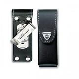 Чехол Victorinox для 111мм толщина 4-6 ур кожа поворот черный (4.0524.31)