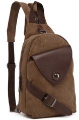 Однолямочный рюкзак RRX A023 Бежевый
