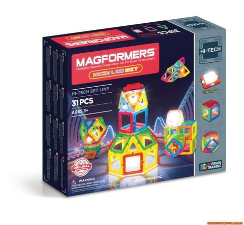 Magformers Неоновый с LED подсветкой, 31 элемент