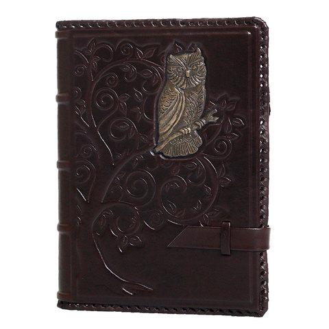 Ежедневник кожаный А5 «Мудрость» филин А80401