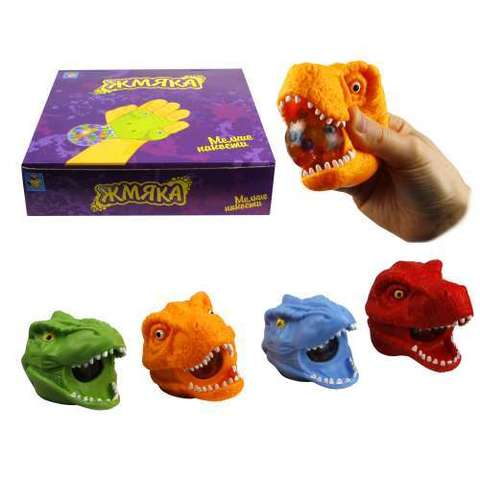 Сквиш жмяка- морда динозавра (с гидрогелем)