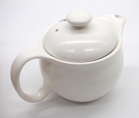 Чайник  керамический белый с узлом счастья, с металлическим ситом, 300мл