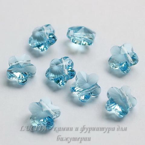5744 Бусина в виде цветка Сваровски Aquamarine 8 мм ()