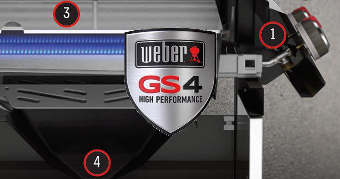Гриль газовый GENESIS  II LX S-340 GBS, нержавеющая сталь.